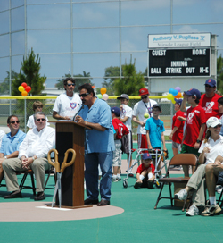 anthony v pugliese presents the new ball park built for his nephew